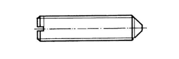 DIN  553 mit Schlitz und Spitze