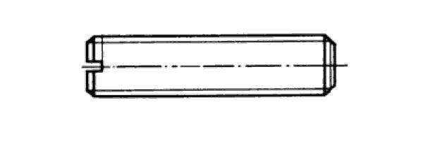 DIN  551 m. Schlitz u.Kegelkuppe