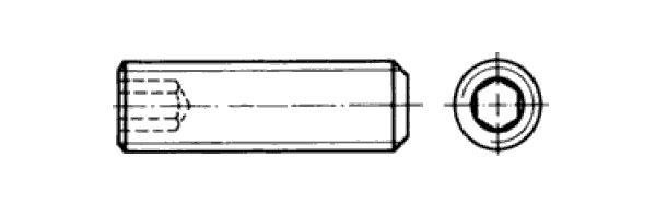 DIN  916 Innensechskant Ringschneide