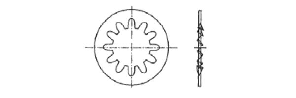 DIN 6797 J Zahnscheibe  innengezahnt
