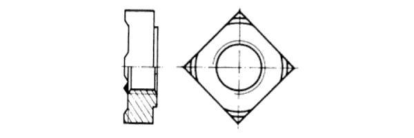 DIN  928 Vierkantschweissmutter