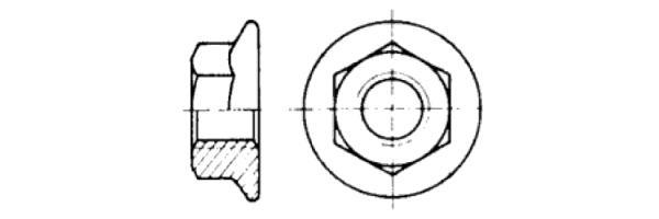 DIN 6923 mit Flansch