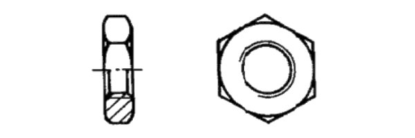 ISO 4035 Sechskantmutter