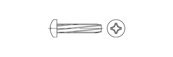 DIN 7516 Form A Linsenkopf Kreuz