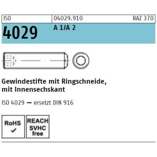 ISO 4029  rostfrei A 1/A 2
