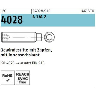 ISO 4028 rostfrei A 1/A 2
