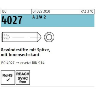 ISO 4027  rostfrei A 1/A 2