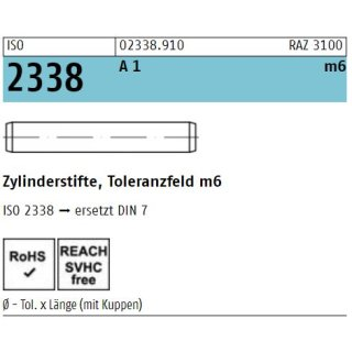 ISO 2338 1.4305 rostfrei A 1