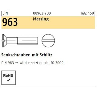 DIN 963 Messing